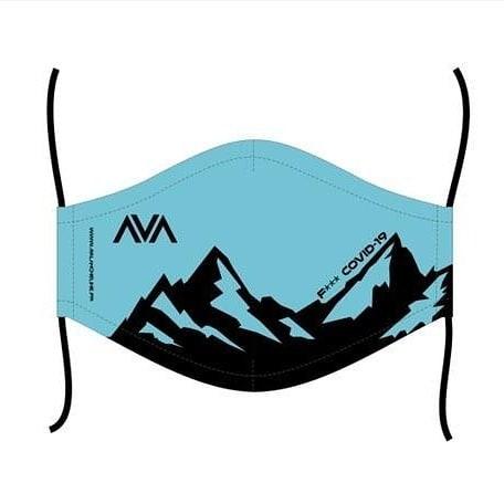 Masque lavable Avalanche Line Bleu