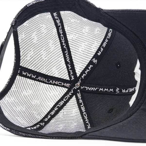 Casquette trucker filet broderie Avalanche Line Black and White HG 3