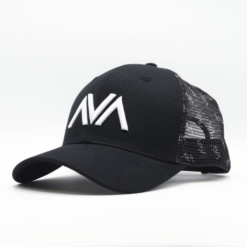 Casquette trucker filet broderie Avalanche Line Black and White HG