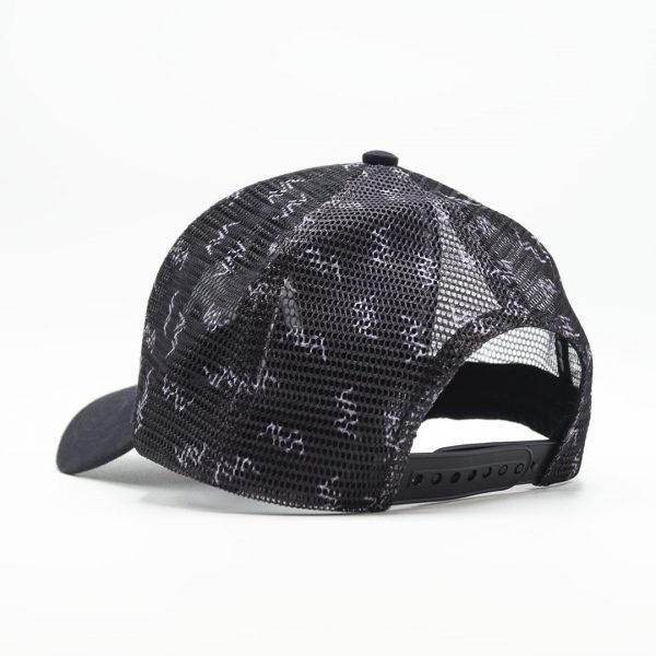 Casquette trucker filet broderie Avalanche Line Black and White HG 2
